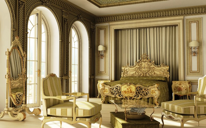Modern Victorian Style Furniture For Bedroom Deluxe Design Ideas With Lounge Chairs Antique Mirror And Lighting Unique Wall Decor Victorian Wall Painting Color Solid Hardwood Flooring Best Furniture Design Ideas For