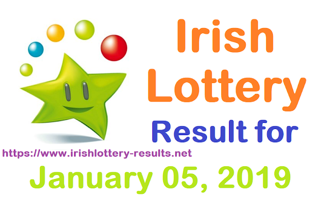 Irish Lottery Result for Saturday, 05 January 2018