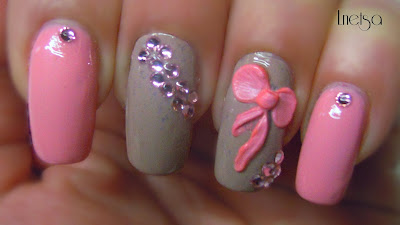 Stylish-and-Cute-Nail-Designs-with-Bows-and-Diamonds-for-Girls-13
