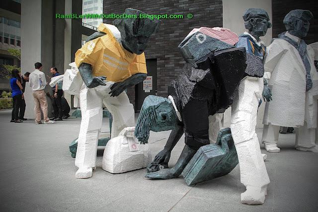 Ju Ming sculptures, Living World Series, Capital Green, Raffles Place, Singapore