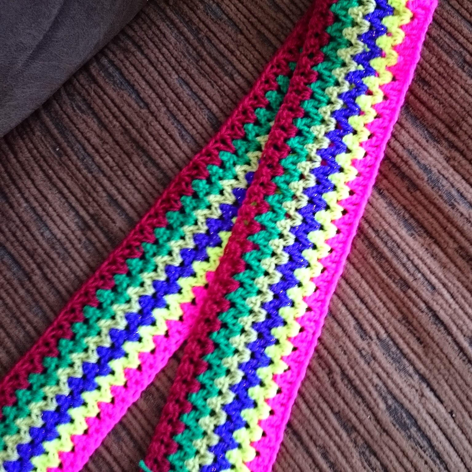 Robin Sparkles Blog Crochet V Stitch Travel Blanket My