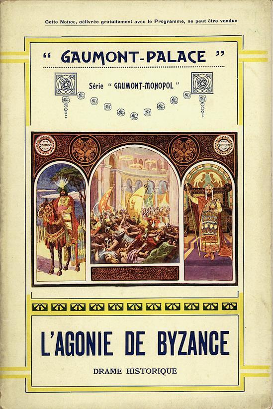 L/'agonie de Byzance Louis Feuillade 1913 movie poster 2