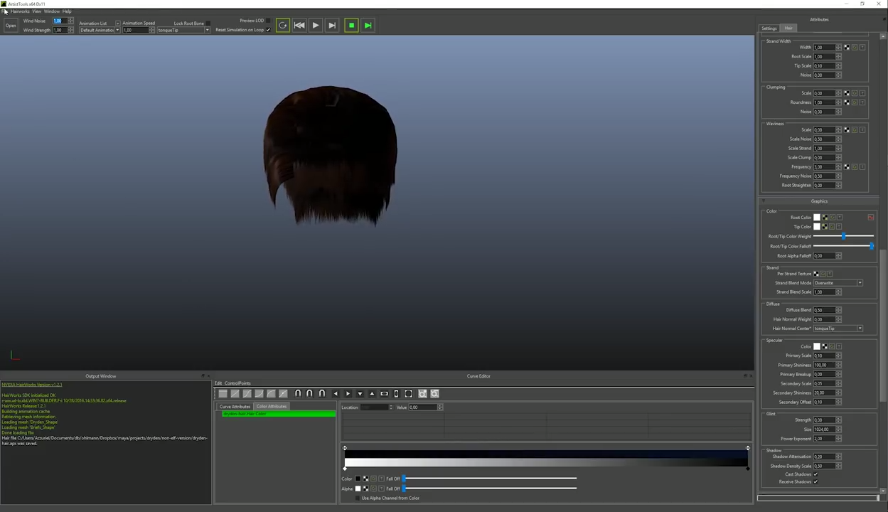 Preparing Hair with Ornatrix For NVidia Hairworks & Unreal