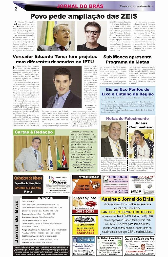 Destaques da Ed. 241 - Jornal do Brás