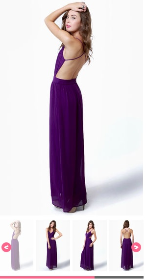 e1a3e32867a LULU s ❥ Exclusive Rooftop Garden Backless Purple Maxi Dress Review ...