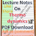 Lecture Notes on Thermodynamics PDF Download