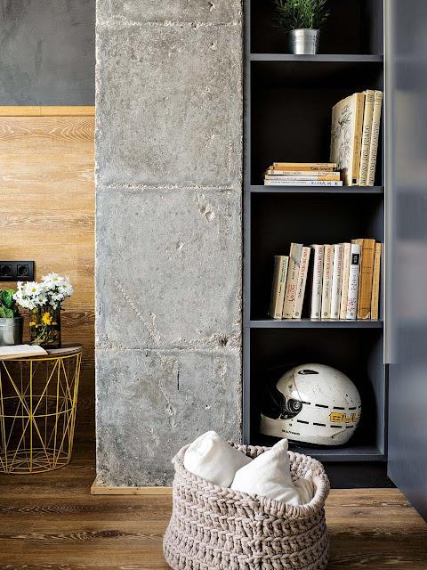 Дизайн-проекты. Промышленная квартира в Барселоне с яркими акцентами