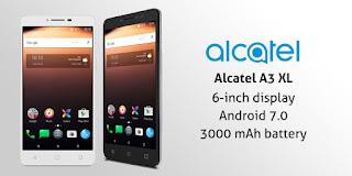 مواصفات و مميزات و صور هاتف ﺃﻟﻜﺎﺗﻴﻞ alcatel A3 XL