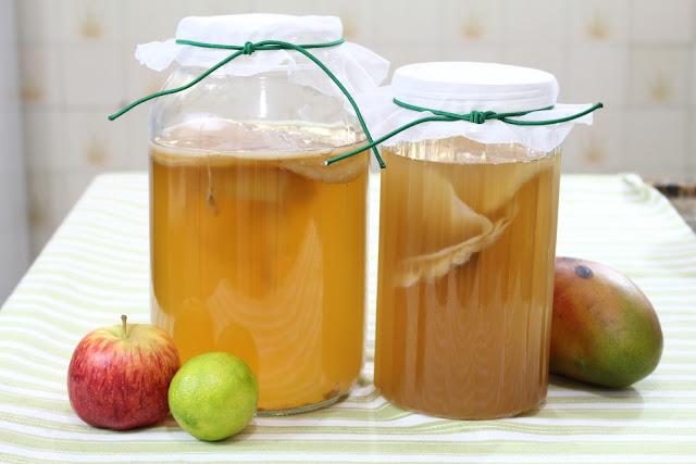 Como Fazer Kombucha | Probiótico que cura | Primeira fermentação com chá verde