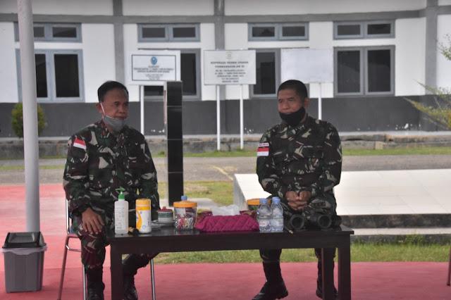 Jaga Sinergitas Korem ATW dan Lantamal XI Merauke, Bangun Nawoko Temui Lukman
