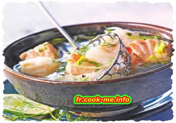 Fondue japonaise au poisson