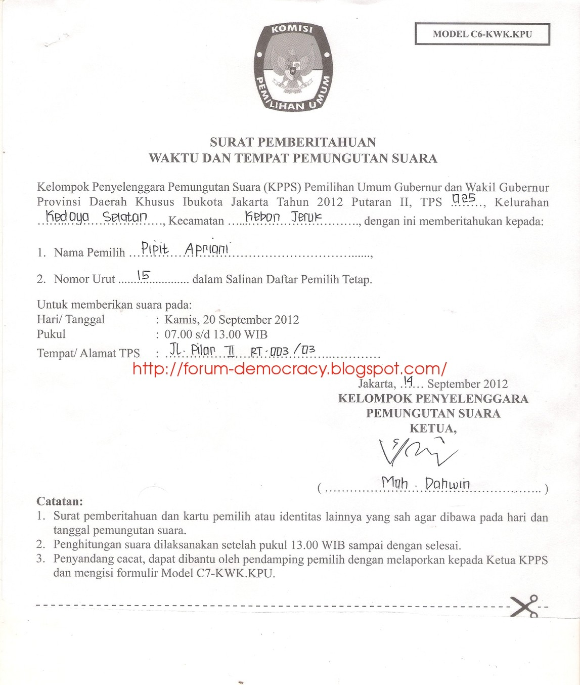Press Release Gubernatorial Election Of Dki Jakarta Second Round