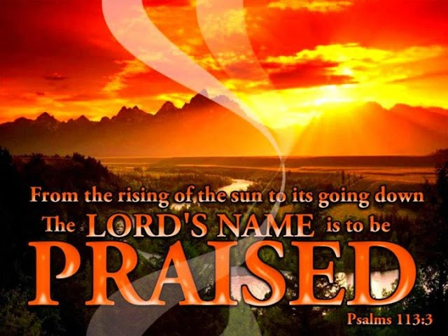 Lords Name to be Priase Bible Verse Wallpaper