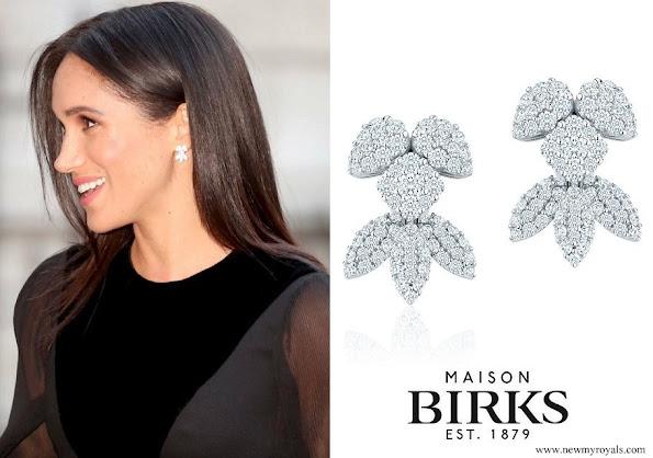 Meghan Markle wore Birks Snowflake Snowstorm Diamond Earrings
