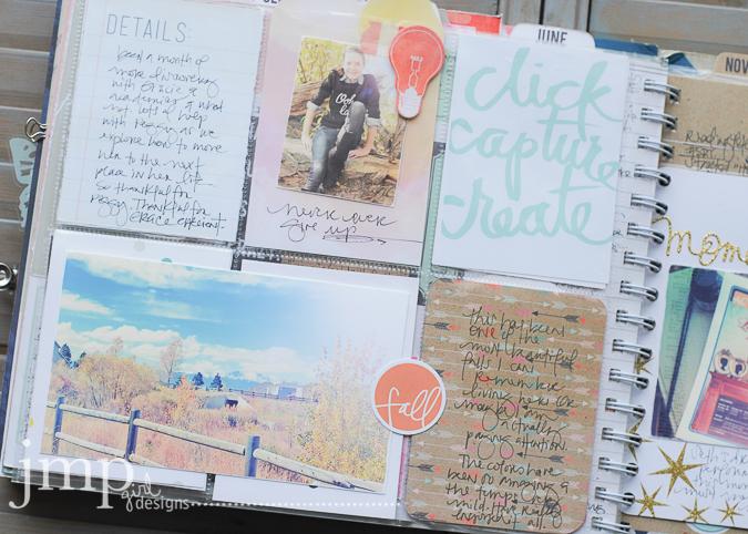 October Memory Planner | Jamie Pate @heidiswapp @jamiepate #hshellotoday