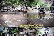 "Ironis "" Ruas Jalan Dekat kantor Wakil Rakyat Selayar Rusak Berat"