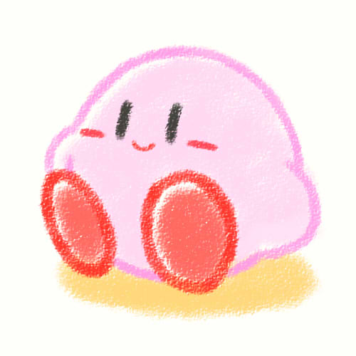 The Gay Gamer: The cutest Kirby drawing ever