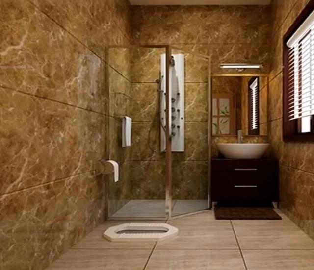 Interior Kamar Mandi Bernuansa Klasik