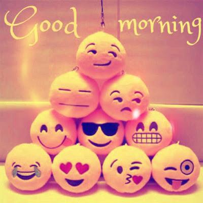 whatsapp emoji with good morning wish