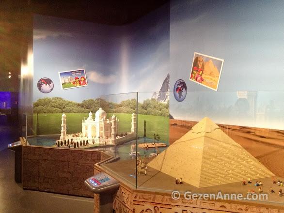 Miniland'te piramitler ve Tac Mahal, Legoland İstanbul