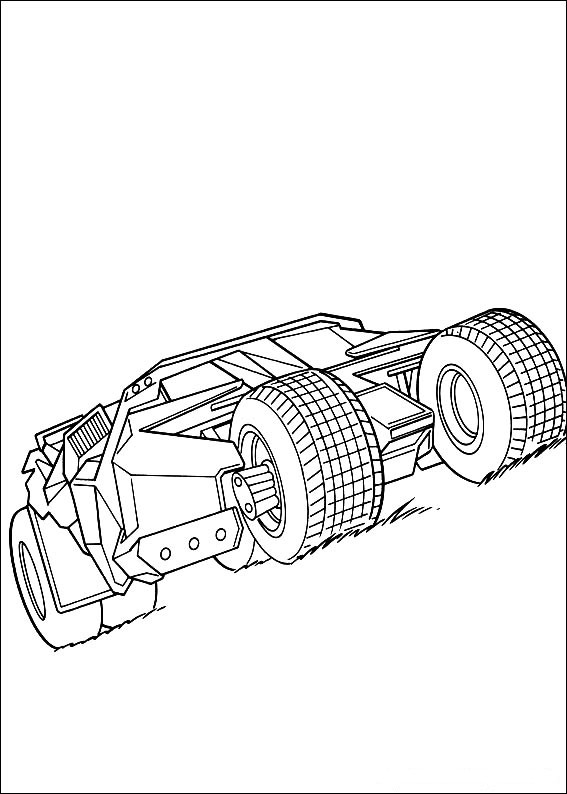 Batman Coloring Pages Batmobile Coloring Page