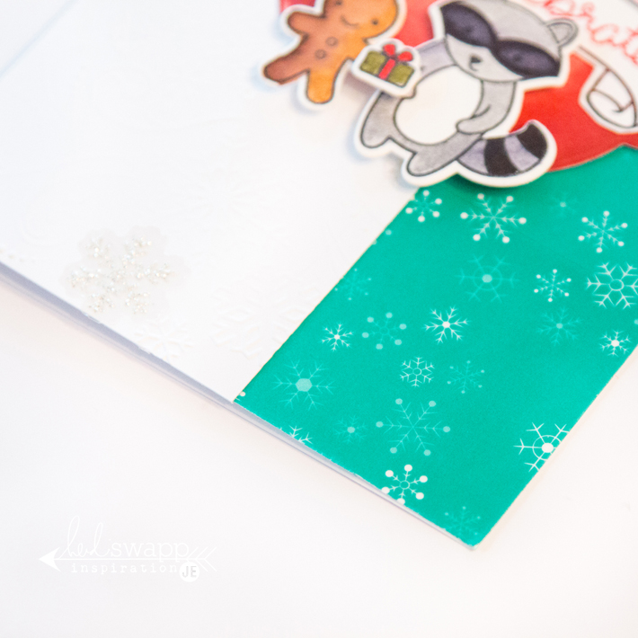 How to use washi tape on your Christmas cards by @createoften for @heidiswapp