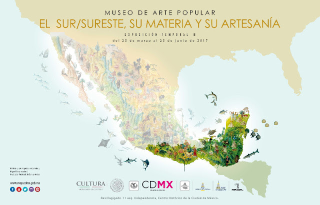 Muestran artesanías del Sur/Sureste de México en el MAP hasta junio 2017