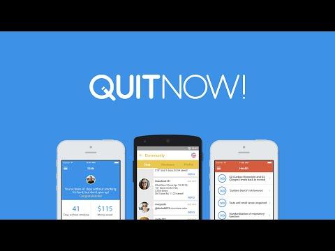 quitnow una aplicación para dejar de fumar