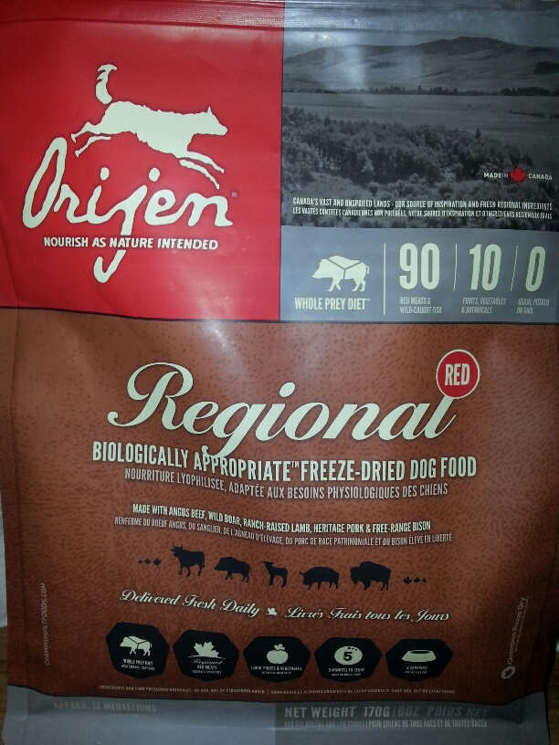 Orijen Regional Red Freeze Dried Dog Food Review