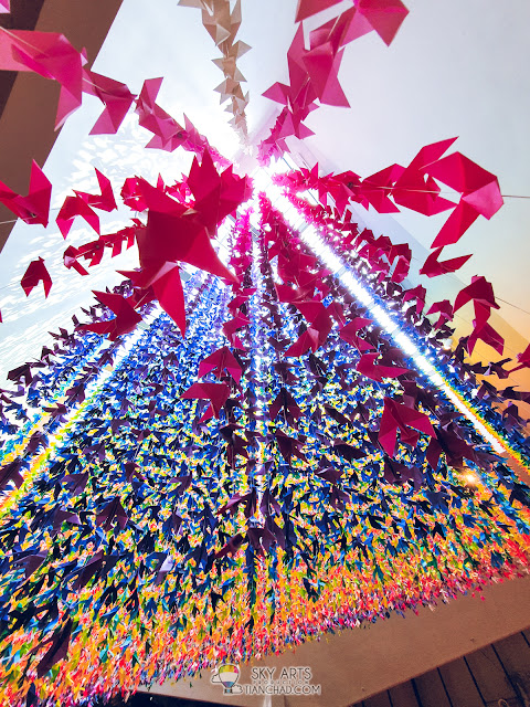 Most Instagrammable spot in Kuala Lumpur The LINC KL Mall with colorful owl mural arts paper crane doves