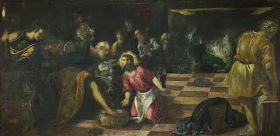 Imagem de Jesus Cristo lavando os pés dos discípulos, pintura, #1