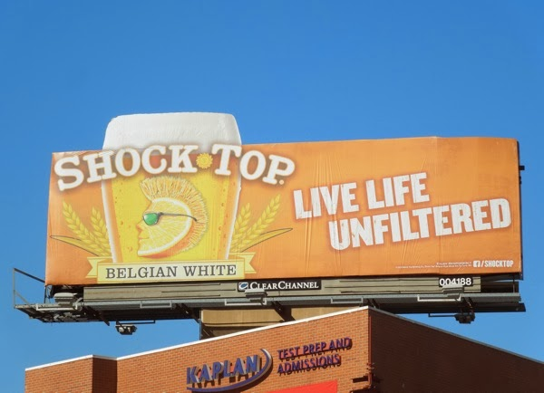 Shock Top Belgian White beer billboard