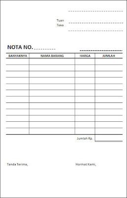 Contoh Form Nota Di Ms Excel Belajar Excel
