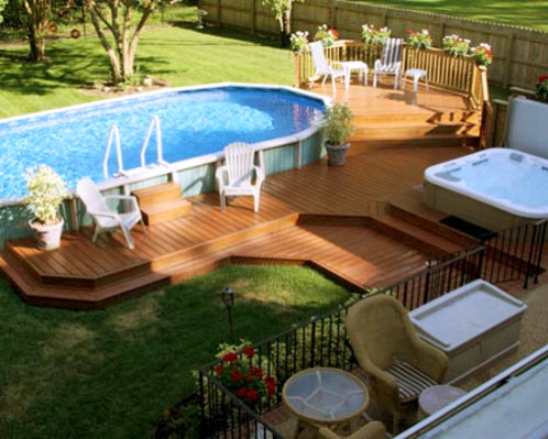 Above Ground Pool Decks Images Above Ground Pools Nj