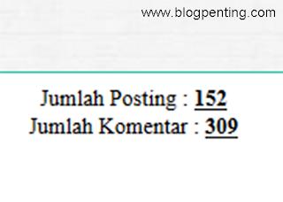 Jumlah Postingan/Komentar Blog Lain