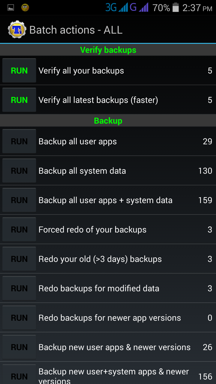Titanium Backup Screenshot 7