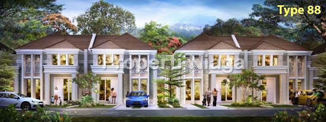 Rumah-Cluster-Rousseau-Residence-Sentul-City-Type-88