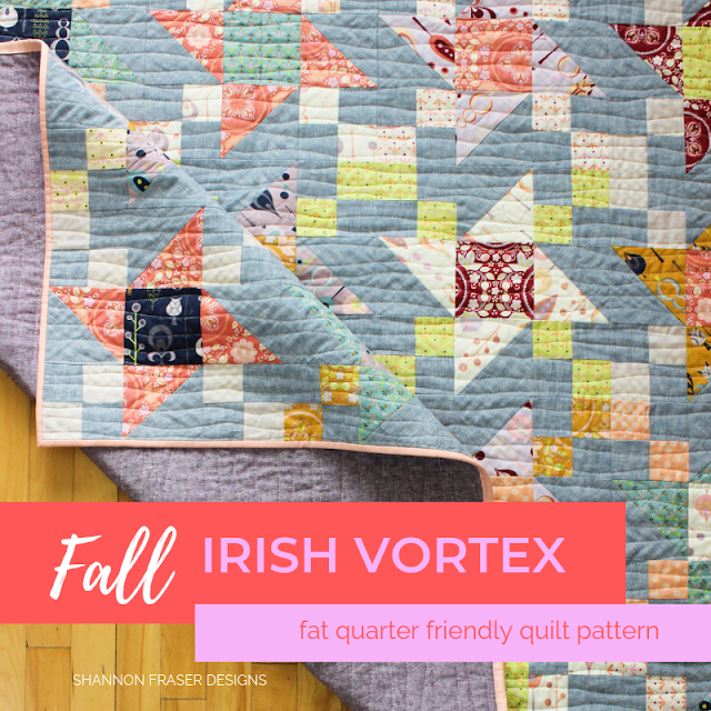 Fall Irish Vortex Quilt | Shannon Fraser Designs