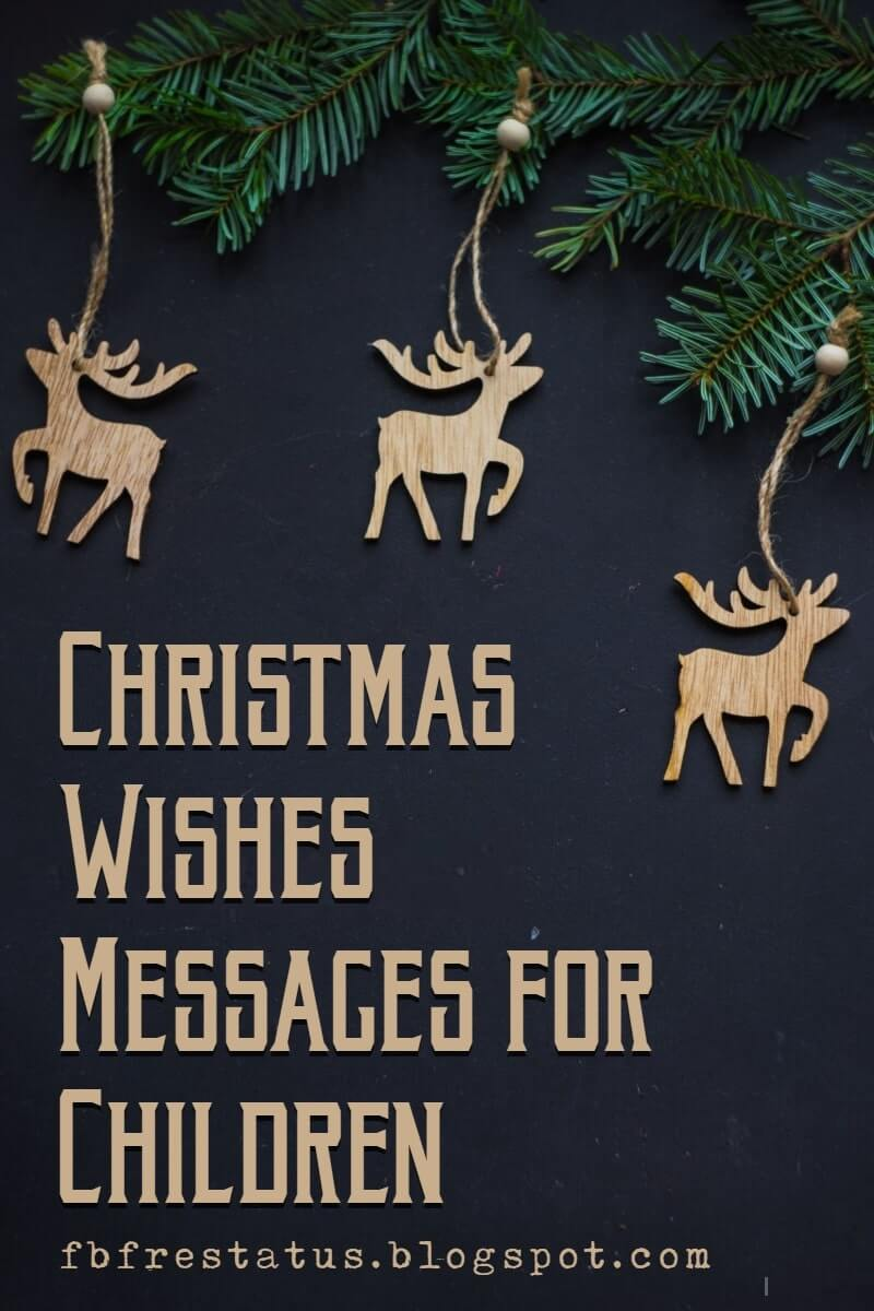 Christmas Messages for Children's Card