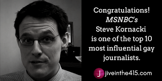 Steve Kornacki is one of the top 10 most influential gay journalists