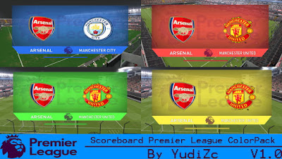 Scoreboard Premier League ColorPack V1.0 PES 2016 By YudiZc