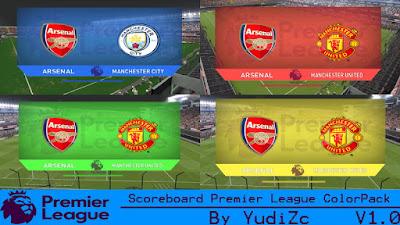 Scoreboard Premier League ColorPack V1.0 PES 2016 By YudiZc