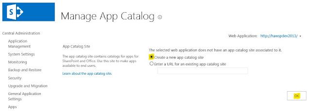 App Catalog Site Url