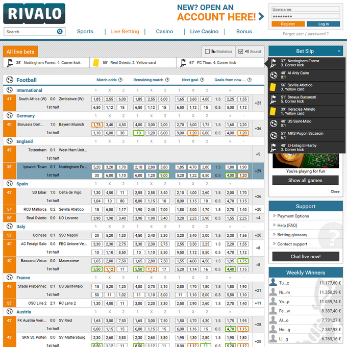 Rivalo Screen