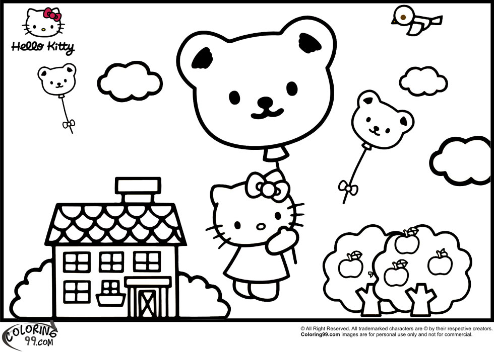 Hello kitty coloring pages minister coloring for Pics of hello kitty coloring pages