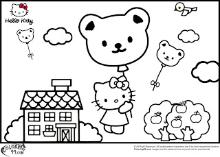 hula hello kitty coloring pages - photo#20