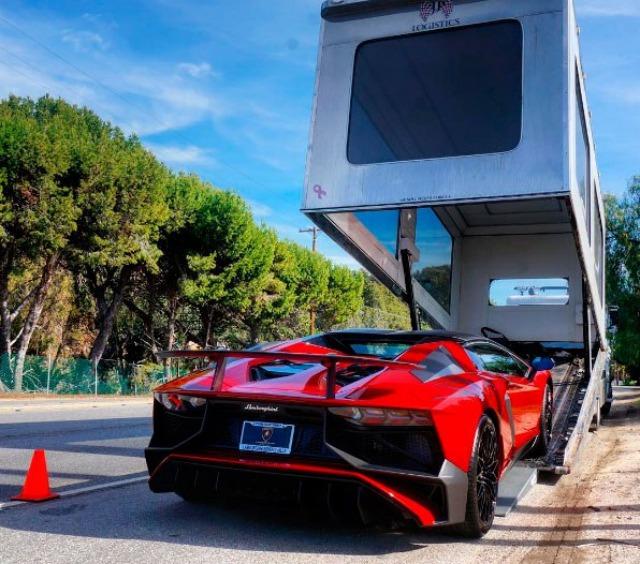 supercars Lamborghini red