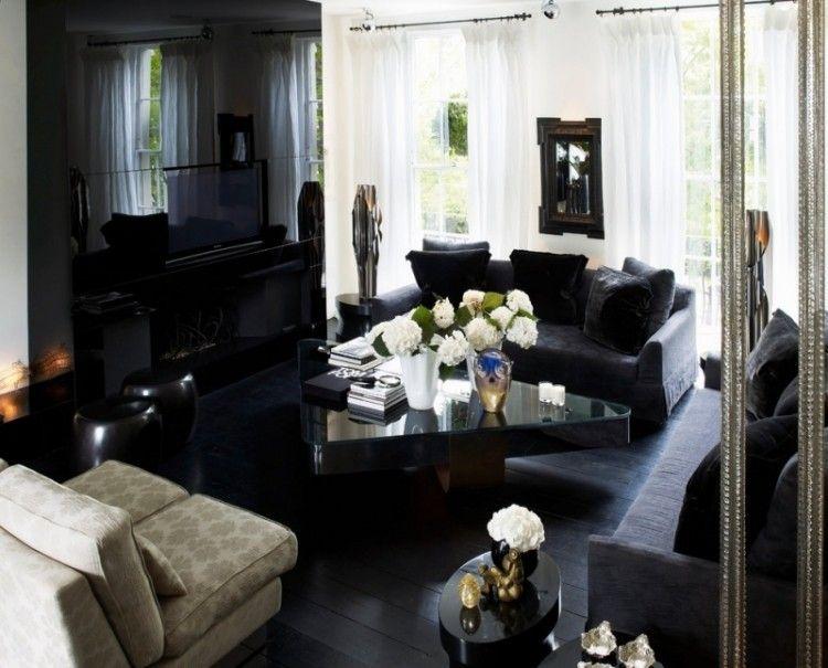 Decoraci n de salas en blanco y negro salas con estilo for Sala de estar blanco y negro