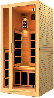 JNH Lifestyles Joyous MG115HB 1-Person Far Infrared Sauna with 6 Carbon Fiber Heaters, picture, image, review features & specifications