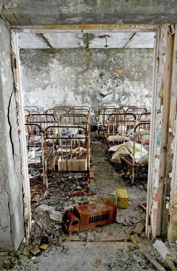 Children's nursery abandoned after Chernobyl meltdown. Pripyat 2011